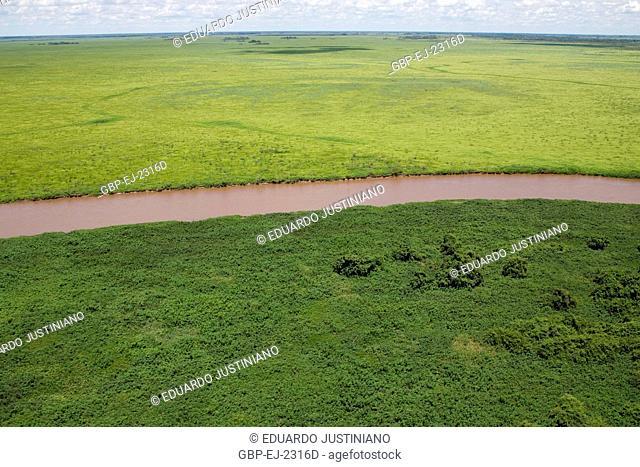 Landscape, Miranda River, Corumbá, Mato Grosso do Sul, Brazil