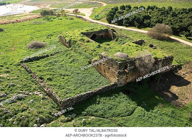Aerial view of the Pit of Joseph at Jubb Yusuf in the Lower Galilee
