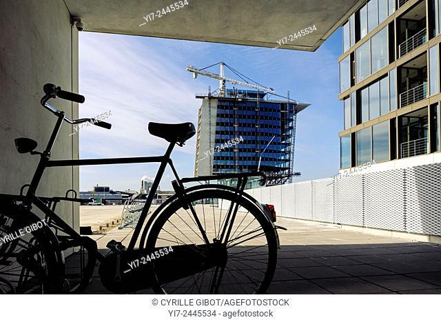 Modern buildings in the hip Westpoort district of Amsterdam, North Holland, Netherlands
