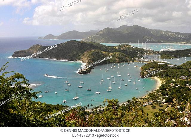 View of English Harbour from Shirley Heights St  John's Antigua Caribbean Cruise NCL