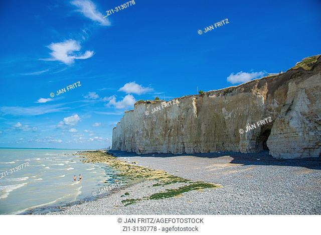 cliffs at Criel sur Mer in Normandy, France