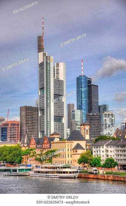 Skyscrapers in Frankurt, Hessen, Germany