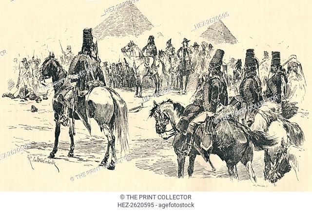 napoleon buonaparte at the battle of the pyramids 1798 1884 artist