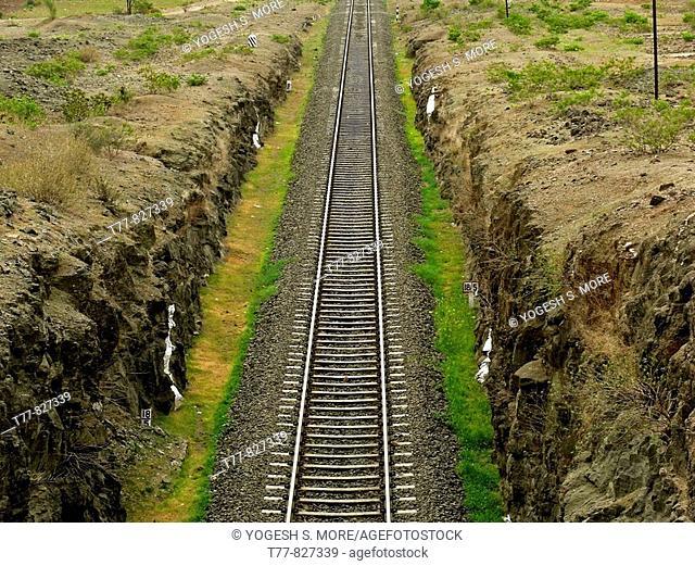 Railway track  Ramdarya, Pune, Maharashtra, India