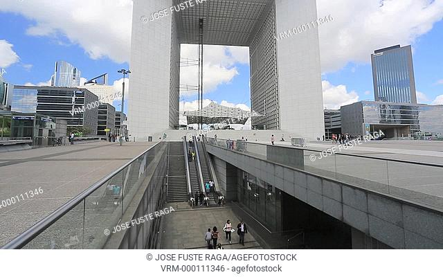 France , Paris City,La Defense District, the Gran Arche