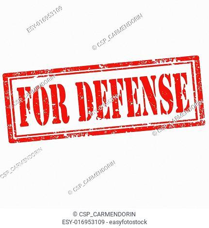 For Defense-stamp