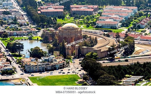 Palace of Fine Arts, Presidio, Theater, San Francisco, San Francisco Bay Area, United States of America, California, United States