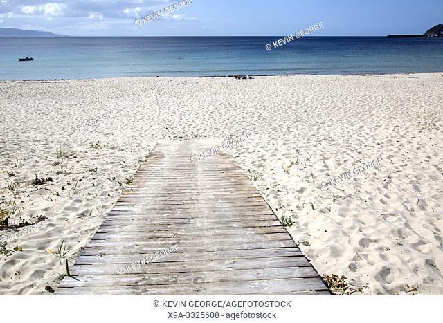 Path at Langosteira Beach, Finisterre; Costa de la Muerte; Galicia; Spain