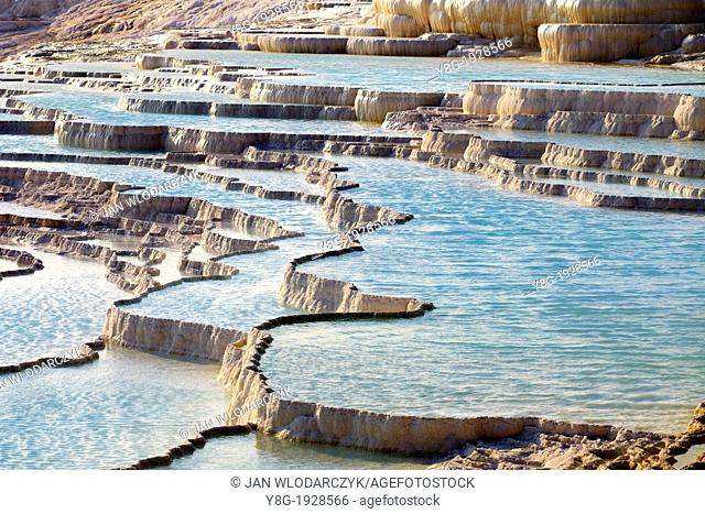Turkey - Pamukkale, the limestone terraces, Unesco