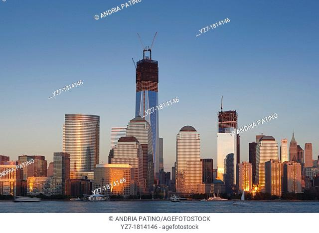 Construction at the World Trade Center, New York, New York, USA