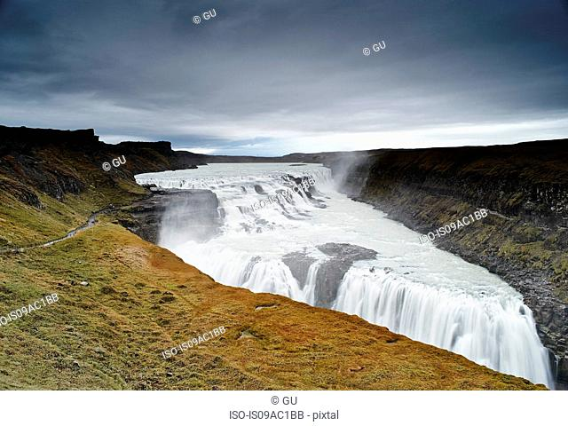 Gullfoss waterfall, Hvita river, south west Iceland