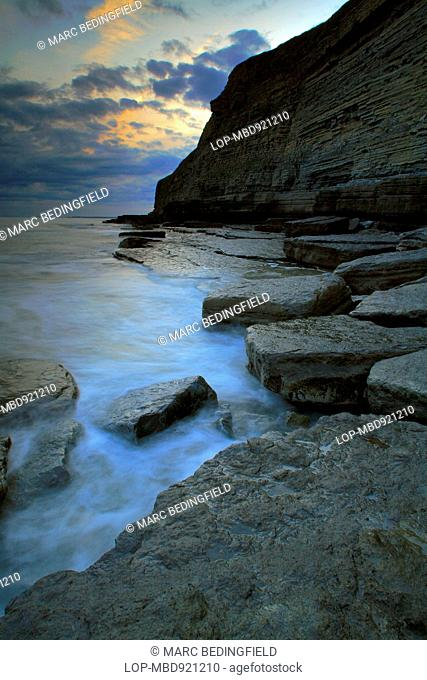 A view across a small rugged bay close to Southerndown on the Glamorgan Heritage Coast in south Wales