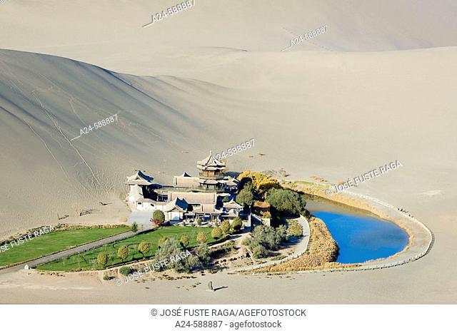 The Moon Lake. Dunhuang City. Gobi Desert. Gansu Province. The Silk Road. China. Nov. 2006