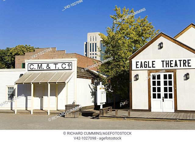 Eagle Theatre on Front Street, Old Town Sacramento, California, USA