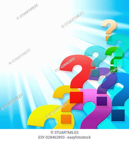 Question Marks Showing Frequently Asked Questions And Blank Space