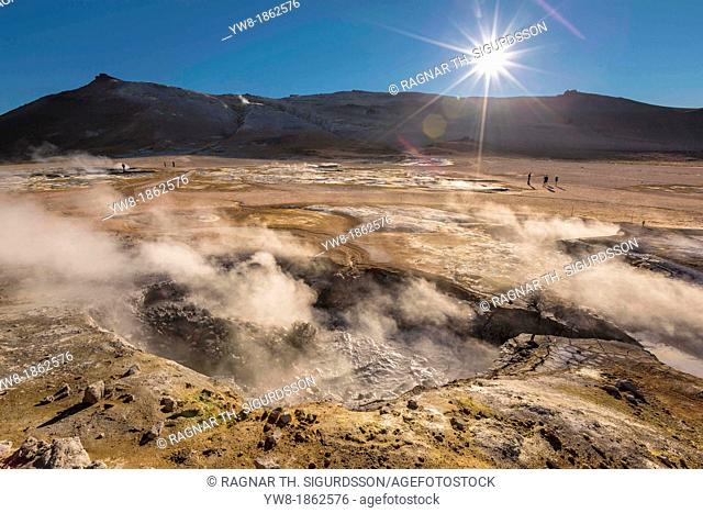 Namaskard-Geothermal Volcanic area, Northern Iceland  The Namaskard Volcanic area is characterized by boiling mud-bogs and solfatoras