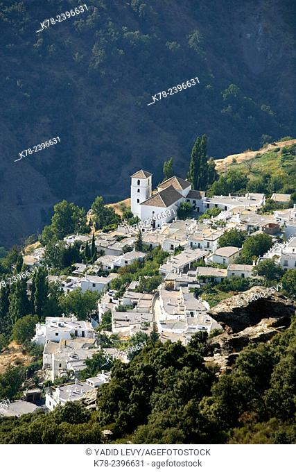 View over Bubion village, Las Alpujarras, Andalucia, Spain