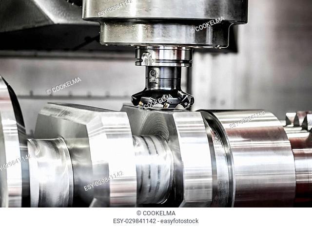Metalworking CNC milling machine. Cutting metal modern processing technology