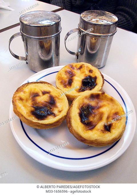 Pastries at Cafe Pasteis de Belem, Lisbon, Portugal