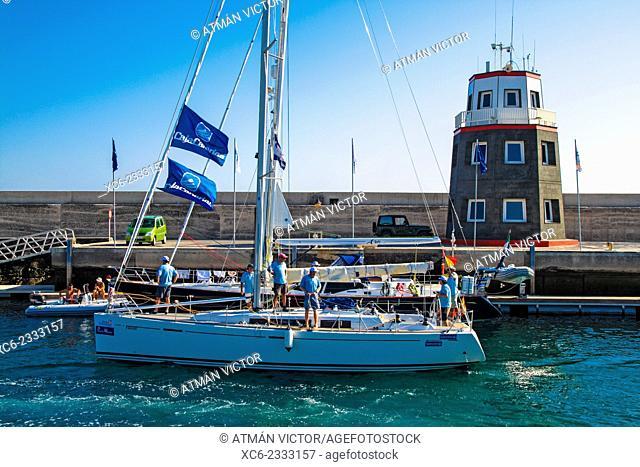 Marina in Puerto Calero, Lanzarote, Canary Islands, Spain
