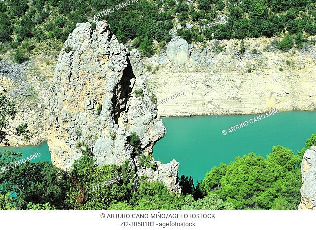 The reservoir of Canelles on the river Noguera-Ribagorzana. Lerida province, Spain