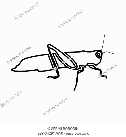 Grasshoper it is black color icon