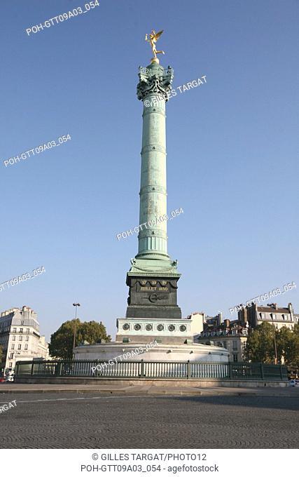 tourism, France, 4th arrondissement of paris, place de la bastille, july column, genius of the bastille Photo Gilles Targat