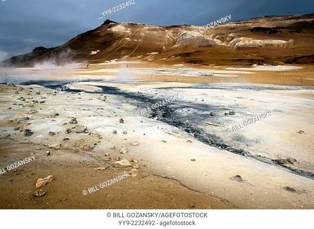 Boiling Mudpools at Namafjall Hverir - Myvatn Region, North Central Iceland