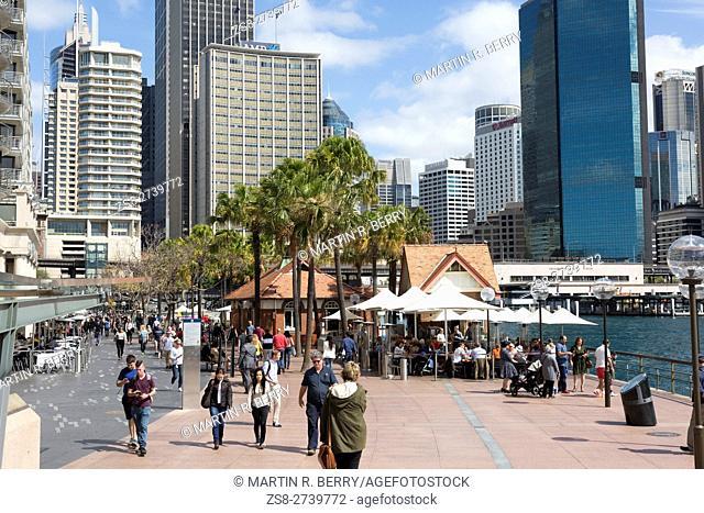 Sydney Circular Quay and city centre,Australia