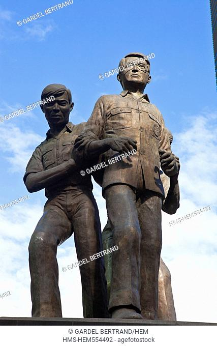 Philippines, Luzon island, Manila, the Makati district, the statue of Ninoy Aquino