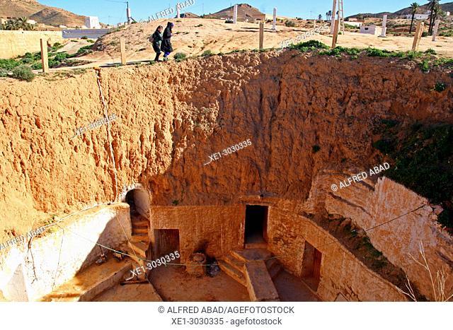 Troglodyte houses, traditional Berber constructions, Matmata, Tunisia