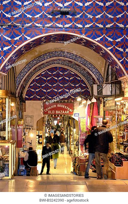 Old Bazaar's entrance Bedestan Grand Bazaar , Turkey, Istanbul