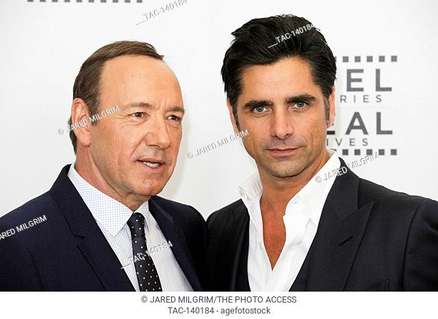 Honoree Kevin Spacey (L) and actor John Stamos attend the 4th Annual 'Reel Stories, Real Lives', benefiting the Motion Picture & Television Fund at Milk Studios...