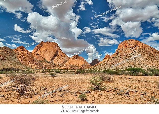 Spitzkoppe, mountain landscape of granite rocks, Matterhorn of Namibia, Namibia, Africa - Namibia, 27/02/2017