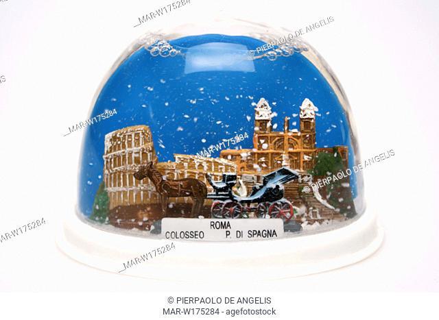 snow globe, rome souvenir