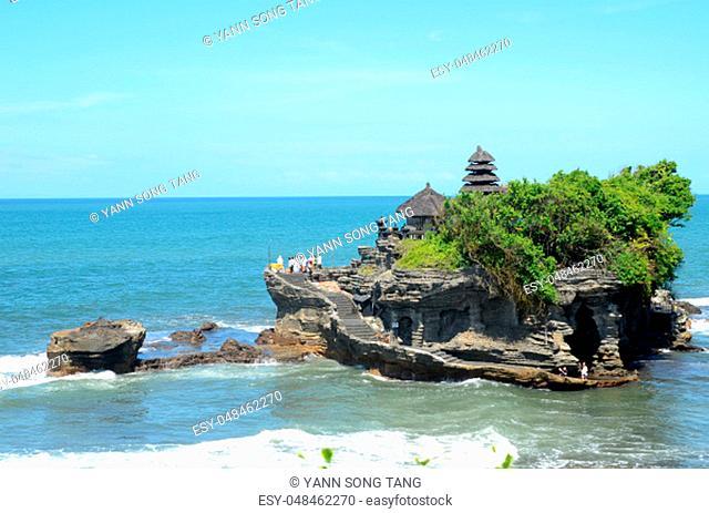 Tanah Lot water temple in Bali island, Indonesia