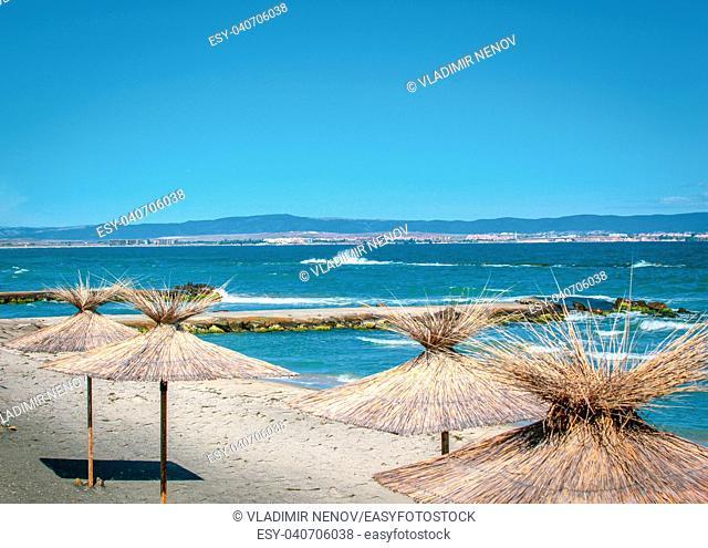 Beautiful sea view from Pomorie, Bulgaria
