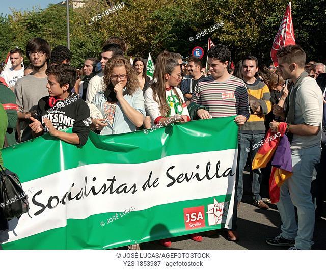 General strike, November 14, 2012, Seville, Spain