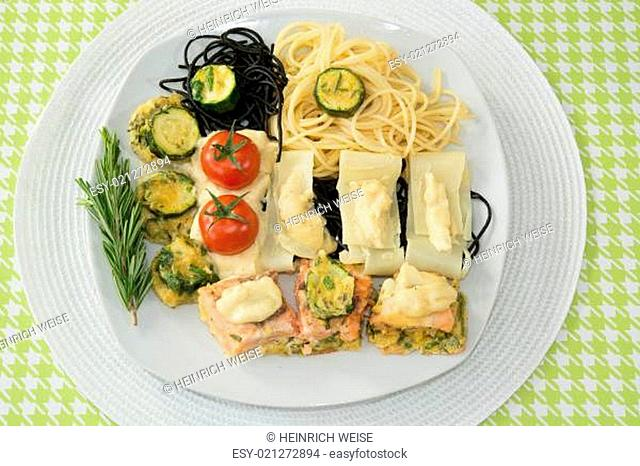 Lachs mit Spaghetti