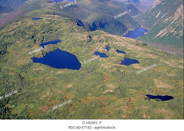 Mountain lakes Gros Morne national park Newfoundland Canada