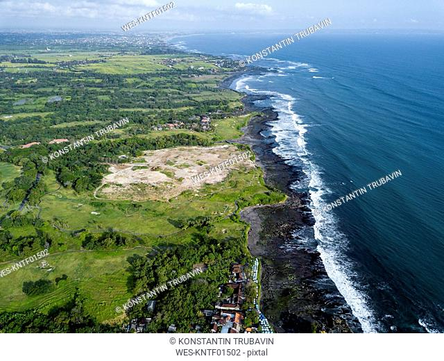 Indonesia, Bali, Aerial view of Tanah Lot temple