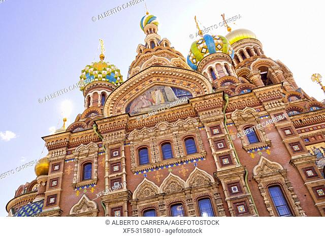 Churh of the Savior on Spilled Blood, Saint Petersburg, UNESCO World Heritage, Russia