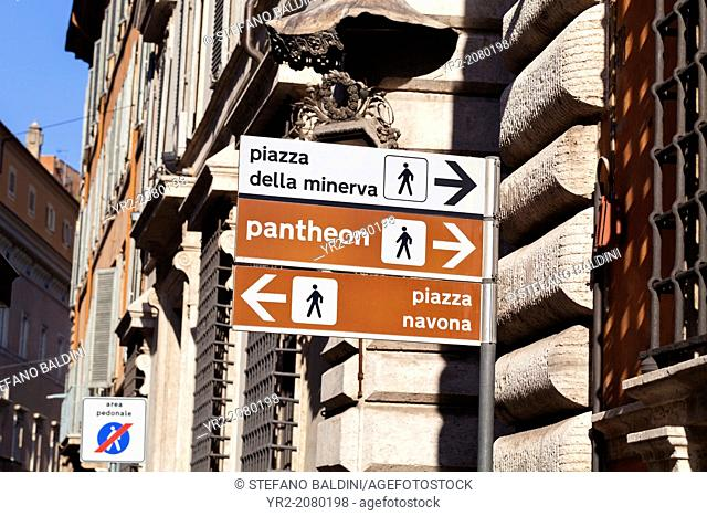Directions to key tourist locations in Rome, Italy