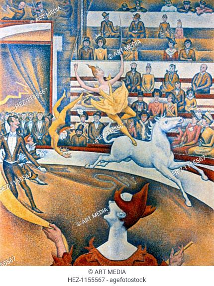 'Le Cirque' ('The Circus'), 1891. This picture was exhibited in 1891 at the 7th Salon des Independants in Paris. During the exhibition Seurat died