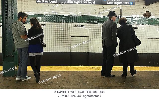 Subway travelers in New York, New York