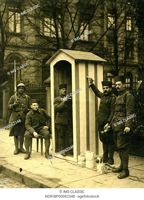 Guards at a guard shack