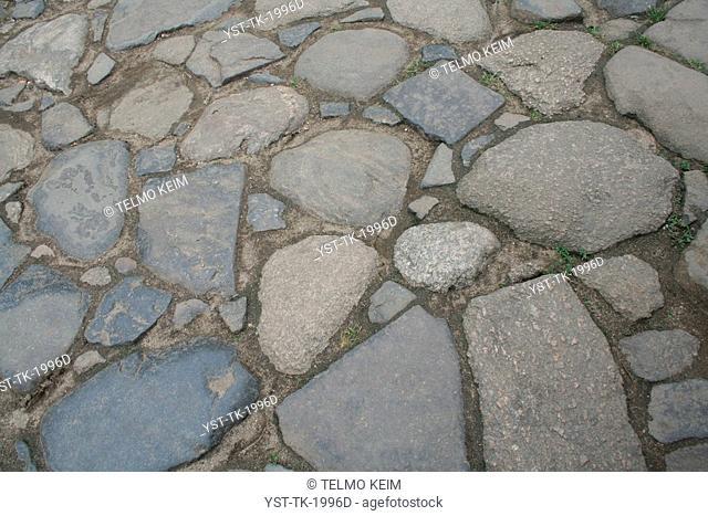 texture of stones, street of stones, Parati, Rio de Janeiro, Brazil