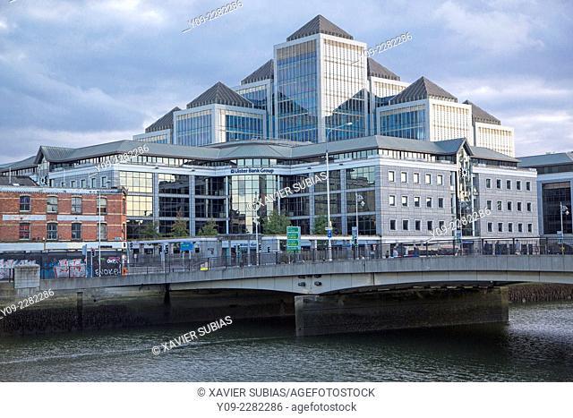 Ulster Bank, Matt Talbot Bridge, George's Quay Plaza, Dublin, Leinster, Ireland