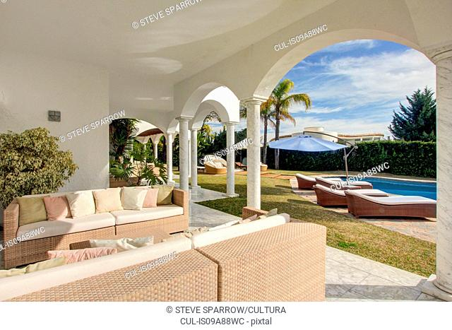 Garden terrace of luxury villa