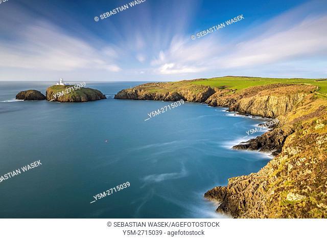 Strumble Head near Fishguard, Pembrokeshire Coast National Park, Pembrokeshire, Wales, United Kingdom, Europe